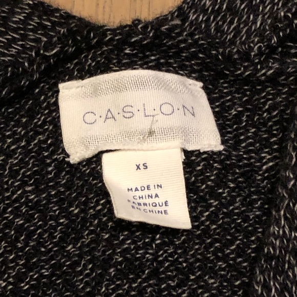 Caslon Sweaters - Very soft black and gray sweater hits mid thigh.